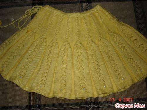 Схема вязания спицами юбочки 230