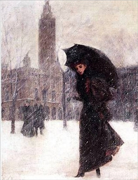 herman hyneman-1849-1907.woman-in-the-snow_thumb (538x700, 286Kb)