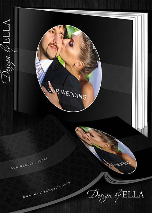 1-Template classic wedding books in dark style (500x700, 159Kb)