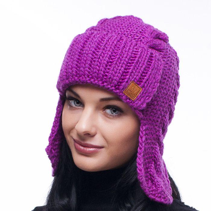 Villabasedutotax Женская шапка - ушанка вязаная