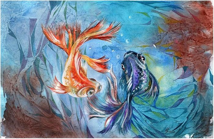 рыбки (700x453, 181Kb)