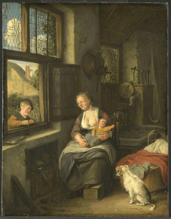 Een moeder met haar kinderen (545x700, 414Kb)