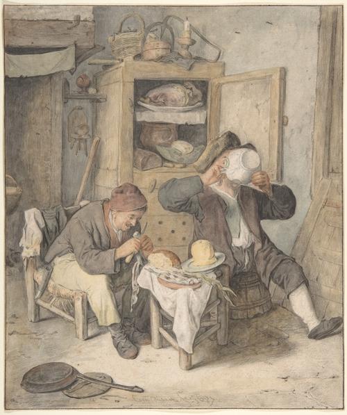 Kitchen Scene (500x597, 237Kb)