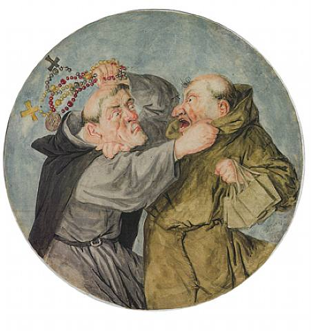 Two Monks fighting  (451x480, 34Kb)