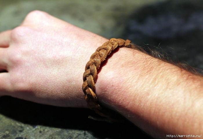 мужской плетеный браслет из кожаного ремня мастер класс обсуждение