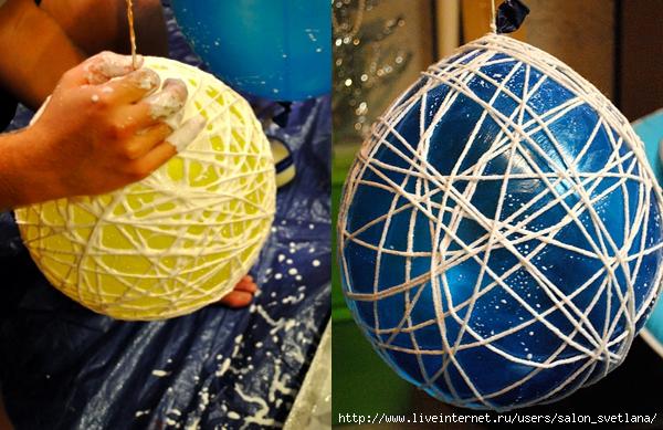 Праздничные шары из ниток: мастерим своими руками Креативный свадебный фотограф!