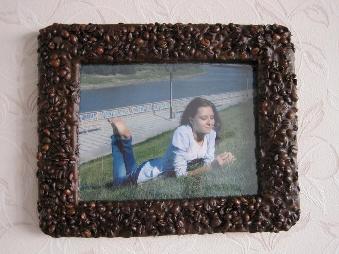 Рамка для фото с зернами кофе Корица