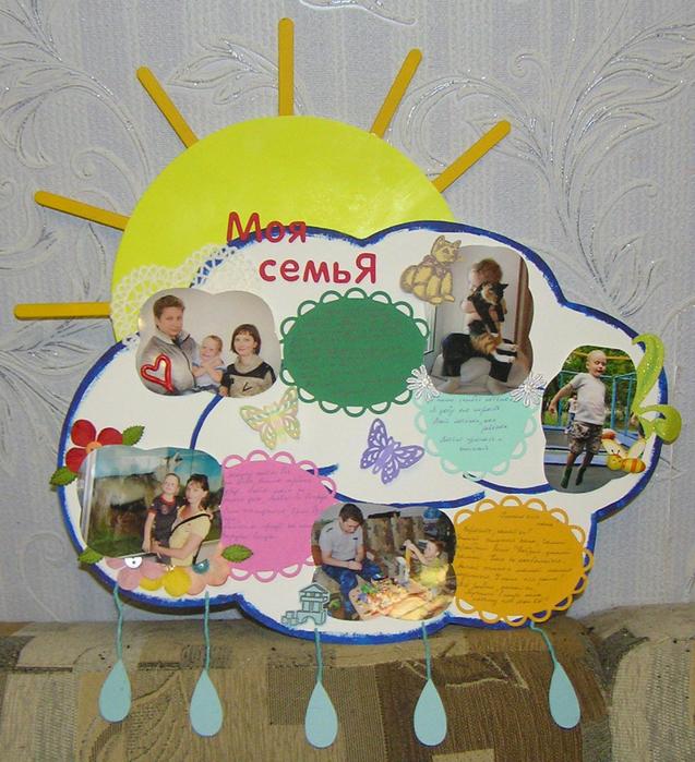 плакат на тему семья рамка для оформления