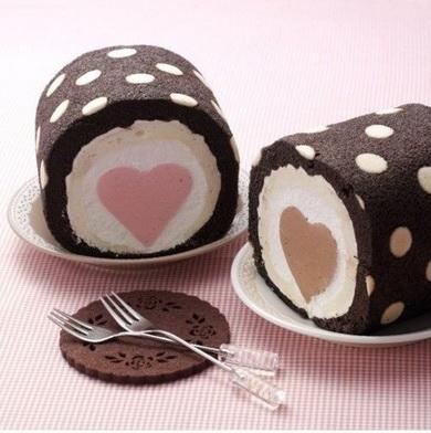 Как сделать торт в сердечком внутри