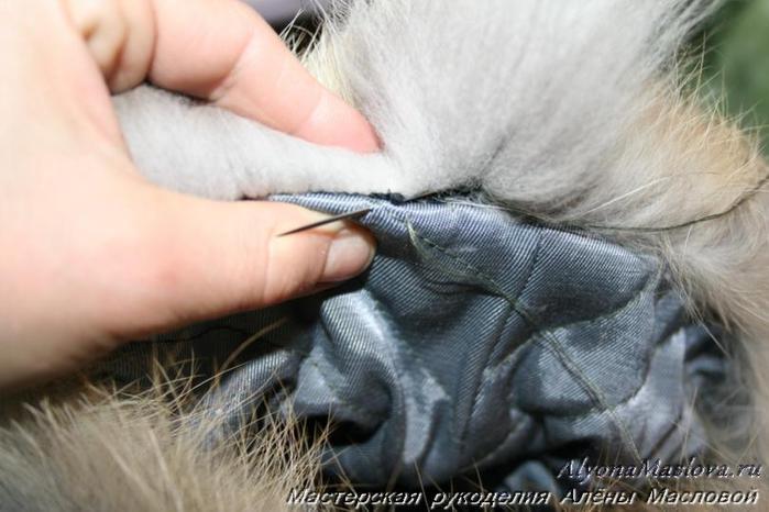 Шитье мехом шапка Сумки