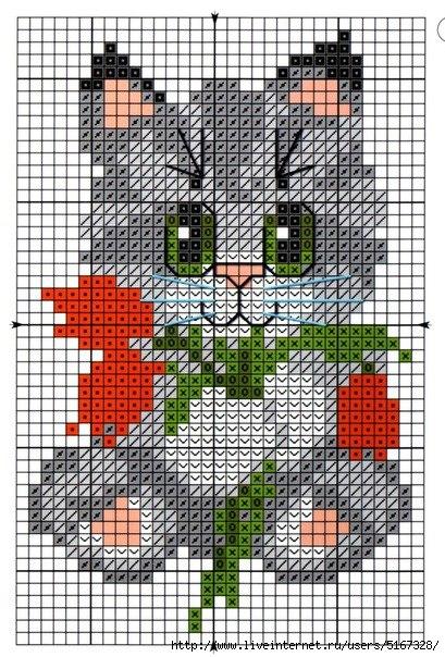Вышивка крестиком котов и котят (схемы) - Котеко