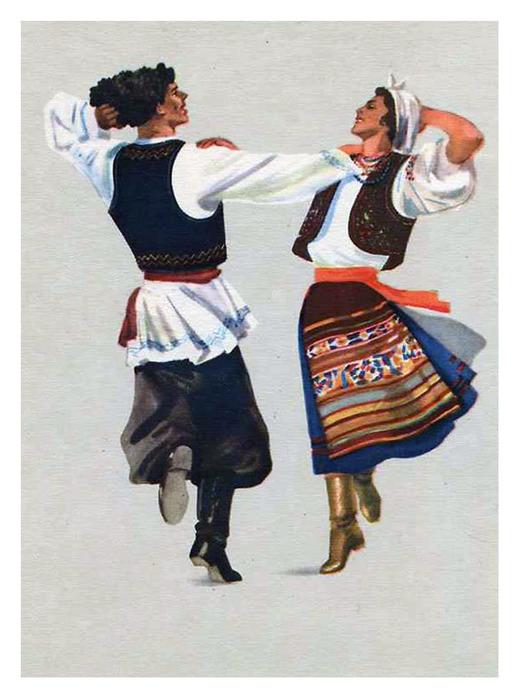 Тан�� на�одов СССРО�к���ки 1957 года Об��ждение на