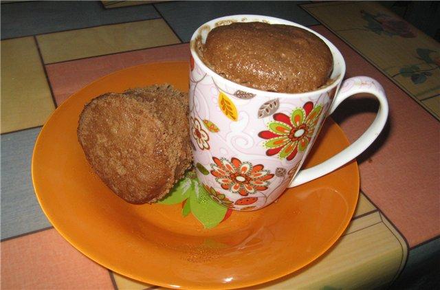 Кекс в микроволновке по Дюкану рецепт с фото