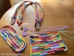 Как связать крючком ручки для сумки.  Автор Татьяна Михачева.  Модная сумочка из пакетов.