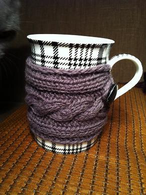 вязаная одежка для чашки