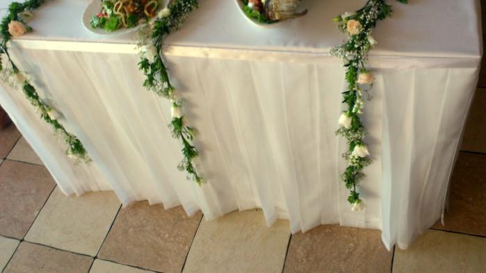 Свадебные юбки на стол своими руками 16