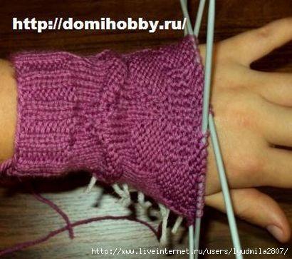 клин расширения большого пальца при вязания