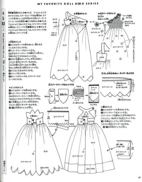 Платья для кукол выкройки бальные платья фото 724