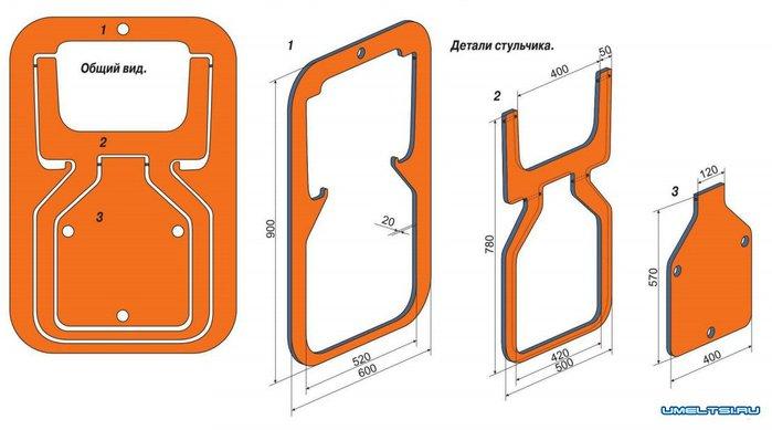 чертежи угловых диванов с размерами