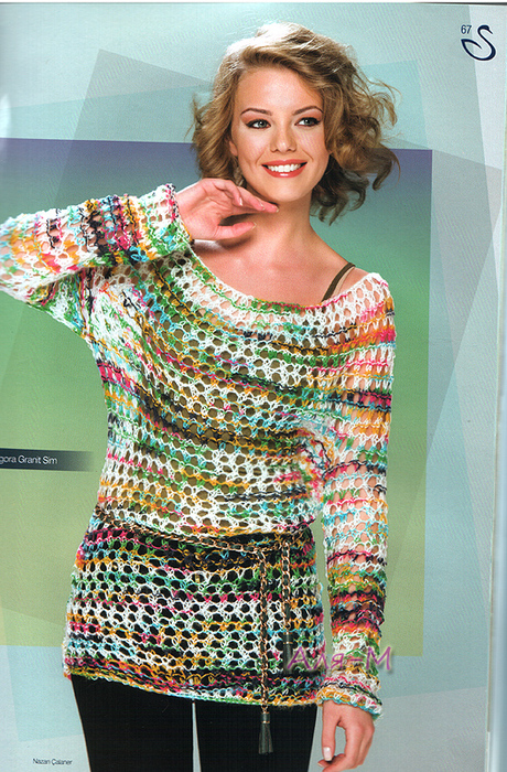 Меланжа схемы вязания