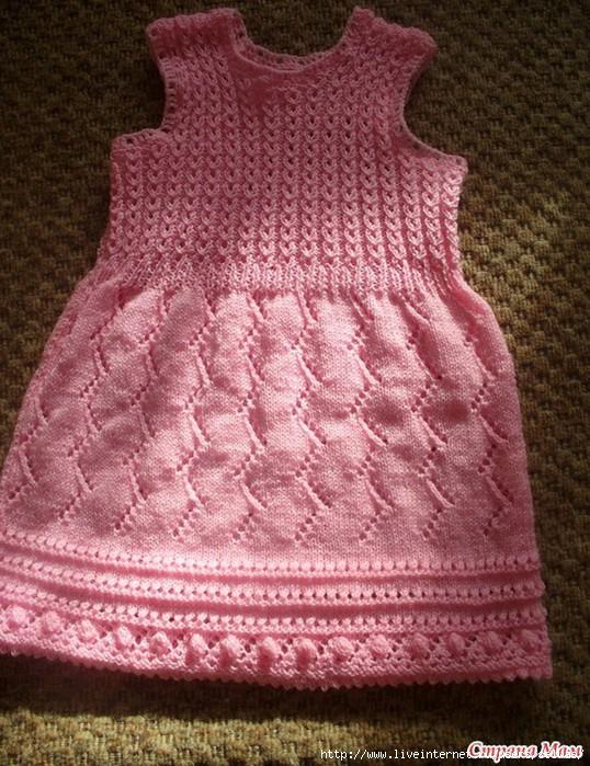 b9878b7d1c1 платье спицами. Схемы для. Вязание сарафана девочке 1. Сарафан для девочки
