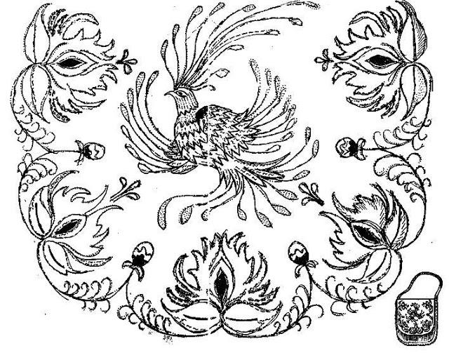 Комиксы мем, русский орнамент картинки птицы черно-белые