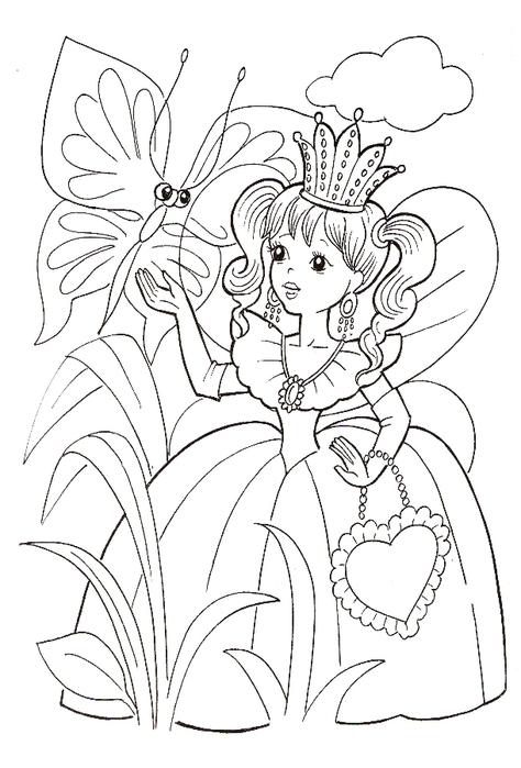"""Раскраска """"Принцессы и феи"""". Обсуждение на LiveInternet ..."""