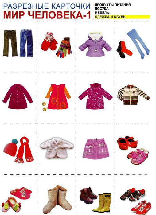 Картинка одежда для детей дошкольного возраста