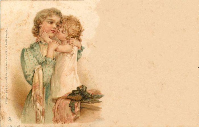 Мама старая открытка, годам поздравления картинки