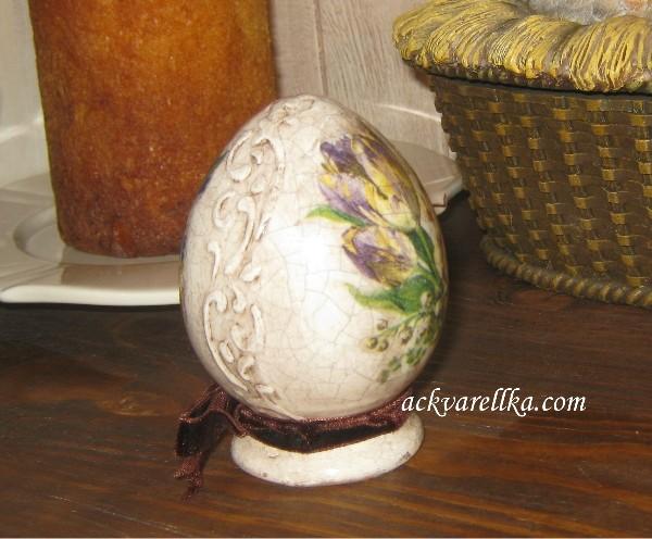 Создание рельефа на поверхности яйца