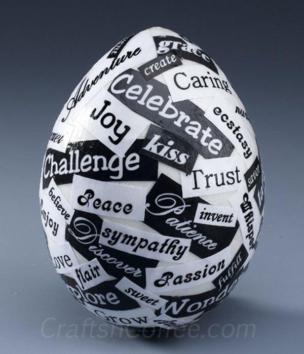 Яйца-поздравления к Пасхе