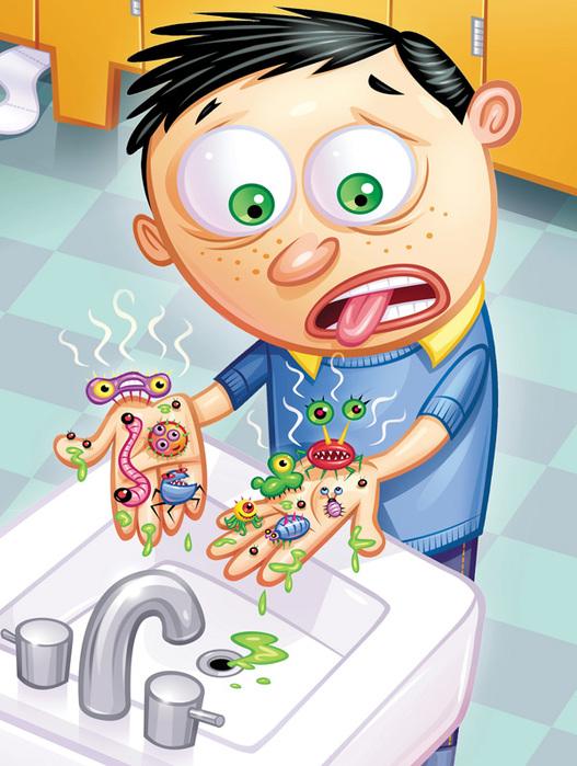 Прикольные картинки с микробами