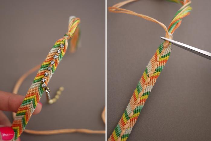 украшения своими руками браслеты из ниток и бисерафенечки