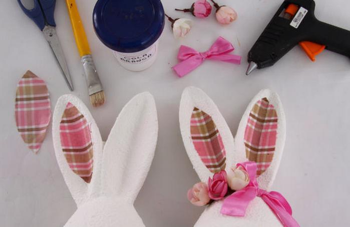 Как сделать из яйца пасхального зайца - Поделки