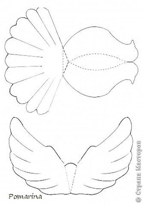 Как сделать объемного голубя из бумаги фото 124