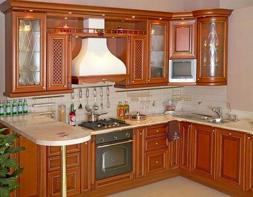 гарнитур кухни из дерева под старину