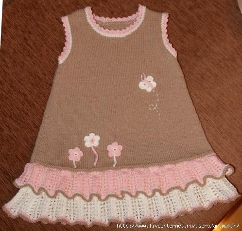 вязание спицами сарафан для девочки 3 лет