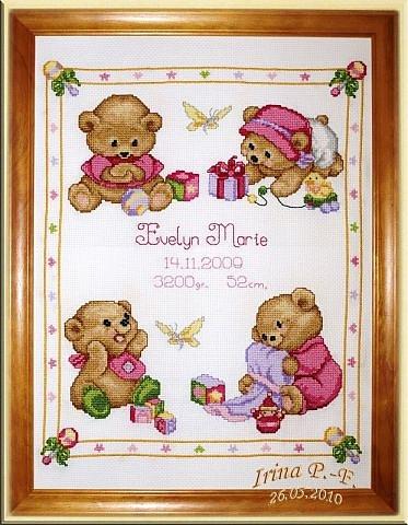 Метрики к рождению малыша » метрики » вышивка крестом схемы.