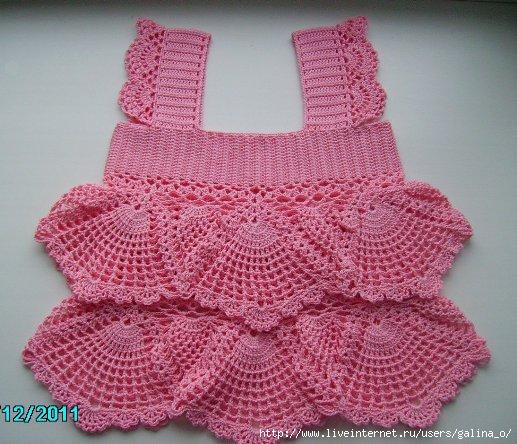 Образец детской вязаной юбки/платья-схемы вязания ...