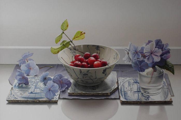 Натюрморты цветочно - фруктовые 000026 (700x464, 43Kb)