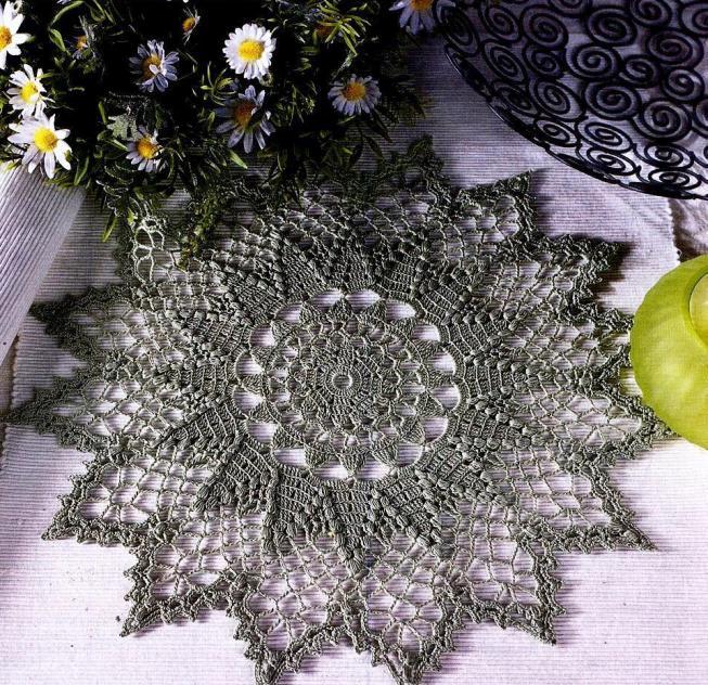 вязание крючком для дома салфетки скатерти подушки Bestcruftsru