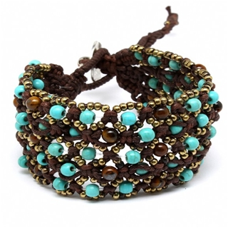 roxanas-boho-style-turquoise-and-brown-beaded-cord-bracelet (320x320, 82Kb)
