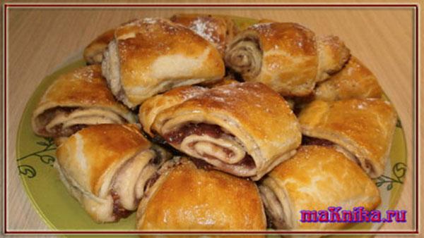Печенье из слоеного теста рецепты пошагово с вареньем