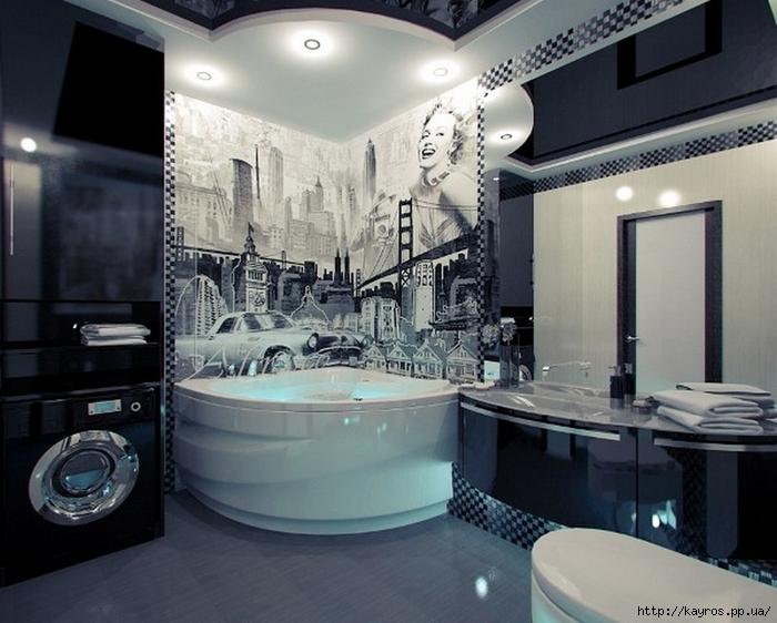 Необычный дизайн ванных комнат купить смеситель для раковины roca