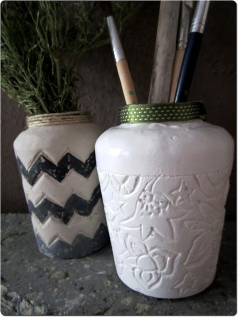 Как украсить Гипсовые вазы своими руками