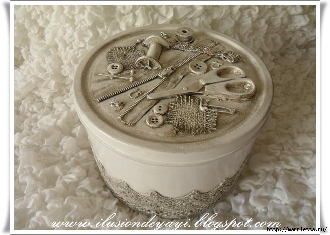 Шкатулку для швейных принадлежностей мастер класс пошагово #4