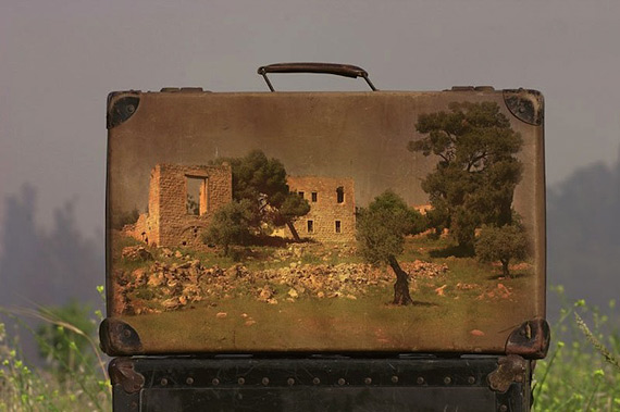 декор старых чемоданов
