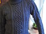 2. 1. Связала свитер на заказ.  Работа былы не из легких.  Весь свитер связан аранами, разными, так заказчица...
