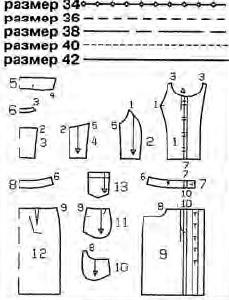 ВЫКРОЙКА 42 РАЗМЕРА ПЛАТЬЯ ФУТЛЯР СКАЧАТЬ БЕСПЛАТНО