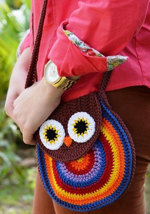 """Вязание крючком. .  Оригинальная вязаная сумка  """"Сова """", отлично подойдет молодой девушке на лето, в нее поместится все..."""